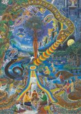 Amaringo, Cosmologia Espiritual, 92cm x 130cm, acrylic