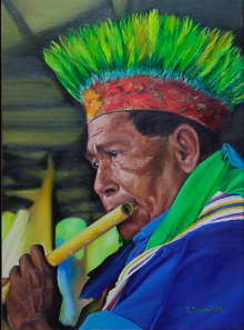 Jonathan Cadavid Martin, Taita, oil on canvas